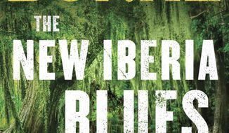 """This cover image released by Simon & Schuster shows """"The New Iberia Blues; A Dave Robicheaux Novel,"""" by James Lee Burke. (Simon & Schuster via AP)"""