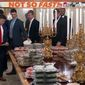 "Clemson football players enjoy fast food at the White House, Jan. 14, 2019. (ESPN, ""First Take"" video screenshot)"