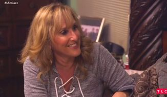 "Jeanette Jennings plans a ""farewell"" party for her transgender daughter's penis during the fifth season of TLC's ""I Am Jazz."" The family's surname is a pseudonym for the reality show to protect their identity. (Image: TLC, ""I Am Jazz"" video screenshot)"