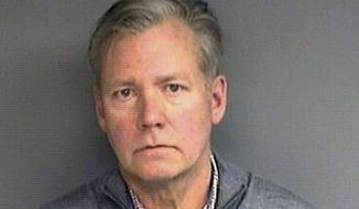 """This booking photograph released Wednesday, Jan. 16, 2019, by the Stamford, Conn., Police Department shows Chris Hansen, former host of the television program """"To Catch a Predator,"""" arrested Monday in his hometown of Stamford, on charges he wrote bad checks for $13,000 worth of marketing materials. (Stamford Police Department via AP)"""