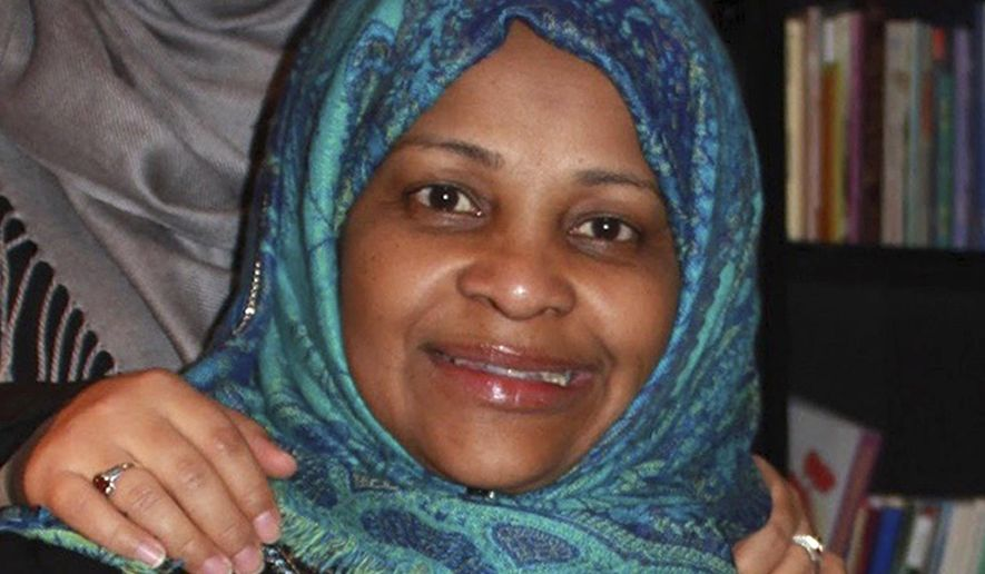 In this image provided by Hossein Hashemi, Marzieh Hashemi, poses for a photo. Marzieh Hashemi, a prominent American anchorwoman on Iranian state television has been arrested by the FBI during a visit to the U.S., the broadcaster reported Wednesday, Jan. 16, 2019, and her son said she was being held in a prison, apparently as a material witness. (Hossein Hashemi via AP)