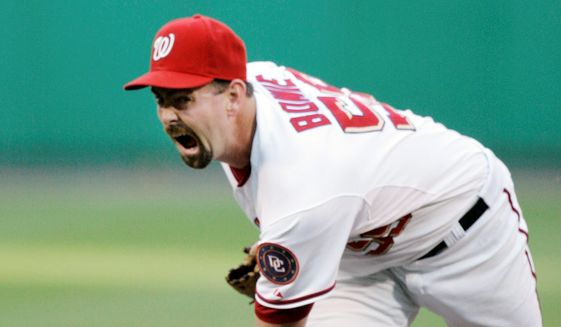 Former Washington Nationals pitcher Micah Bowie has been using oxygen since 2016 to help him breathe due to complications from back surgery. (ASSOCIATED PRESS)