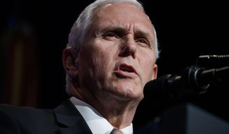 Vice President Mike Pence speaks during an event about American missile defense doctrine with President Donald Trump, Thursday, Jan. 17, 2019, at the Pentagon. (AP Photo/ Evan Vucci)