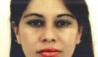 """This undated photo provided by the United States Attorney for the Eastern District of New York shows Lucero Guadalupe Sanchez Lopez. Sanchez, who says she had an affair with the notorious Mexican drug kingpin Joaquin """"El Chapo"""" Guzman, testified against him on Thursday, Jan. 17, 2019, at his U.S. trial in New York. (U.S. Attorney for the Eastern District of New York via AP)"""