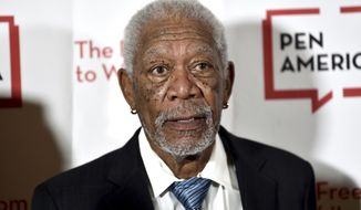 FILE - In this May 22, 2018 file photo, actor Morgan Freeman attends the 2018 PEN Literary Gala at the American Museum of Natural History, in New York. A man has been sentenced on Thursday, Jan. 17, 2019, to 20 years in prison for the fatal stabbing of Freeman's step-granddaughter in New York City. Prosecutors say 33-year-old Lamar Davenport stabbed his girlfriend E'Dena Hines multiple times in August 2015 while under the influence of alcohol and drugs. (Photo by Evan Agostini/Invision/AP, File)