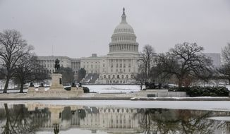 The Capitol is seen as the negotiations to end the monthlong partial government shutdown remain stalled, in Washington, Friday, Jan. 18, 2019. (AP Photo/J. Scott Applewhite) **FILE**