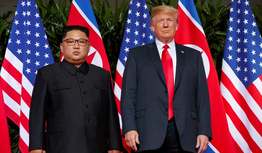 President Donald Trump hopes to build on his meeting in Singapore with North Korean leader Kim Jong-un with a second summit next month, reportedly in Vietnam, despite concern about a lack of action from Pyongyang. (Associated Press/File)