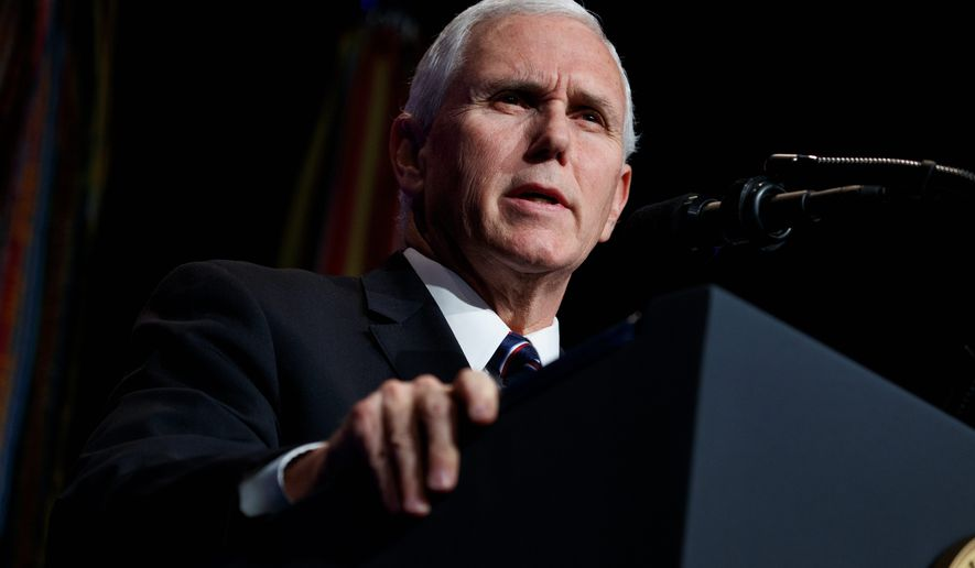 """""""There is no amnesty in the president's plan and there is no pathway to citizenship,"""" said Vice President Mike Pence about the proposed plan. (Associated Press)"""