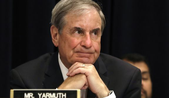 Rep. John Yarmuth, D-Ky., ranking member on the House Budget Committee listens to testimony on Capitol Hill in Washington, Wednesday, May 24, 2017, as Budget Director Mick Mulvaney testified before the committee's hearing on President Donald Trump's fiscal 2018 federal budget.  (AP Photo/Jacquelyn Martin)