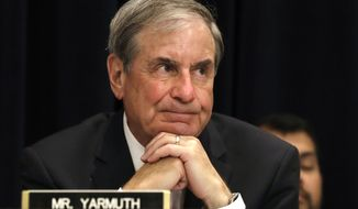 Rep. John Yarmuth, D-Ky., ranking member on the House Budget Committee listens to testimony on Capitol Hill in Washington, Wednesday, May 24, 2017, as Budget Director Mick Mulvaney testified before the committee's hearing on President Donald Trump's fiscal 2018 federal budget.  (AP Photo/Jacquelyn Martin) ** FILE **
