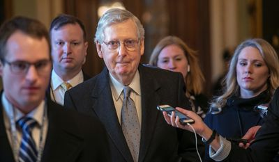 """To refuse even to talk until the government reopens does no favors to the sidelined federal workers and contractors,"" said Senate Majority Leader Mitch McConnell, Kentucky Republican, about the immigration plan that some Democrats have rejected."