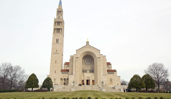 The Basilica of the National Shrine of the Immaculate Conception in Washington, Saturday, Feb. 20, 2016.  (AP Photo/Pablo Martinez Monsivais) **FILE**