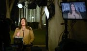 White House press secretary Sarah Huckabee Sanders speaks during a television interview at the White House in Washington, Tuesday, Jan. 22, 2019. (AP Photo/Susan Walsh)