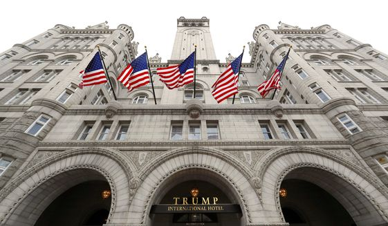 In a pinch, perhaps, President Trump could always deliver the State of the Union address from the historic Trump International Hotel, which is located just three blocks away from the White House. (Associated Press)