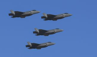 F-35 missile defenses can strike long-range missiles shortly after launch, when they are more vulnerable and before countermeasures can be deployed. (U.S. Air Force) ** FILE **