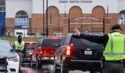 Students arrive at Covington Catholic High School as classes resume following a closing due to security concerns the previous day, Wednesday, Jan. 23, 2019, in Park Hills, Ky. Local police authorities controlled access to the property at entrances and exits. (AP Photo/John Minchillo)