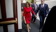 House Speaker Nancy Pelosi of Calif. arrives for a House Democratic Caucus meeting on Capitol Hill in Washington, Wednesday, Jan. 23, 2019. (AP Photo/Andrew Harnik)
