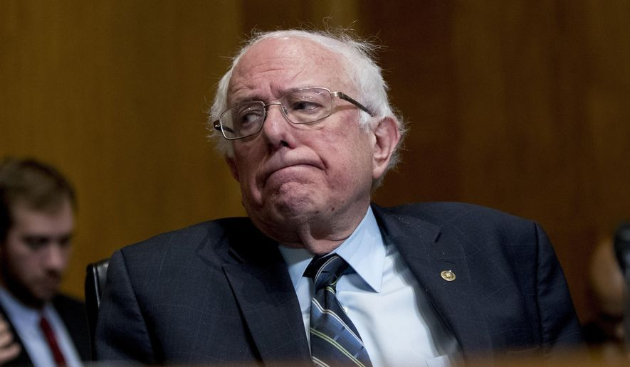 """In this Jan. 16, 2019, photo, Sen. Bernie Sanders, I-Vt., reacts during a hearing on Capitol Hill in Washington. """"Medicare-for-all"""" makes a good first impression, but support plunges when people are asked if they'd pay higher taxes or put up with treatment delays to get it. The survey, released Wednesday, Jan. 23, by the nonpartisan Kaiser Family Foundation, comes as Democratic presidential hopefuls embrace the idea of a government-run health care system, considered outside the mainstream of their party until Sanders made it the cornerstone of his 2016 campaign. (AP Photo/Andrew Harnik)"""
