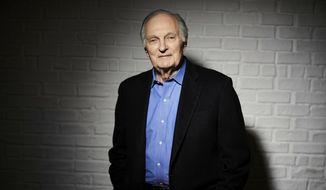 In this Oct. 25, 2018, photo, Alan Alda poses for a portrait in New York. When Alda receives his lifetime achievement award from the Screen Actors Guild on Sunday, Jan. 27, 2019, it will celebrate a career lasting nearly seven decades. (Photo by Matt Licari/Invision) ** FILE **