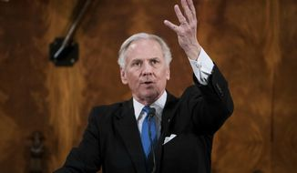 South Carolina Gov. Henry McMaster delivers the State of the State address at the Statehouse, Wednesday, Jan. 23, 2019, in Columbia, S.C. (AP Photo/Sean Rayford)