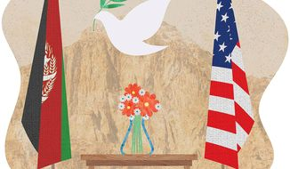 Afghan Exit Deal Illustration by Greg Groesch/The Washington Times