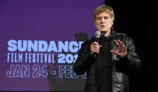 Robert Redford, president and founder of the Sundance Institute, addresses reporters during the opening day press conference at the 2019 Sundance Film Festival, Thursday, Jan. 24, 2019, in Park City, Utah. (Photo by Chris Pizzello/Invision/AP)
