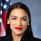 Rep. Alexandria Ocasio-Cortez, New York Democrat, in her official portrait.