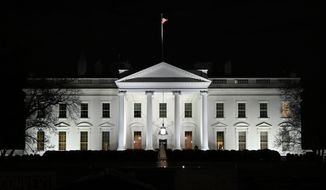 In this Jan. 23, 2019, photo, a view of the White House in Washington. (AP Photo/Susan Walsh) ** FILE **