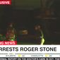 FBI agents arrest longtime political operative Roger Stone on Jan. 25, 2019 at his Fort Lauderdale, Florida, home. (Image: CNN screenshot)