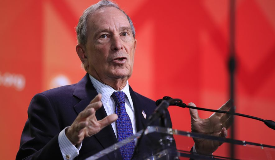 Former New York City Mayor Michael Bloomberg speaks to the U.S. Conference of Mayors meeting in Washington, Friday, Jan. 25, 2019. (AP Photo/Manuel Balce Ceneta) ** FILE **