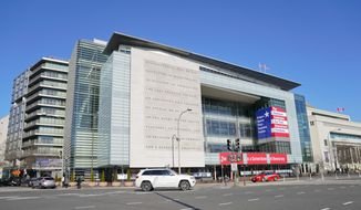 The Newseum on Pennsylvania Avenue in Washington, Friday, Jan. 25, 2019. The founder and main funder of the Newseum, a Washington museum devoted to journalism and the First Amendment, has reached a deal to sell its sleek steel-and-glass building on a prime stretch of real estate in the nation's capital. The Freedom Forum, the private foundation that created the Newseum, said the museum will remain open for the rest of the year. (AP Photo/Pablo Martinez Monsivais) **FILE**
