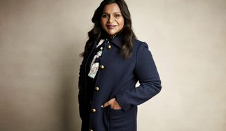 """Writer and actress Mindy Kaling poses for a portrait to promote the film """"Late Night"""" at the Salesforce Music Lodge during the Sundance Film Festival on Friday, Jan. 25, 2019, in Park City, Utah. (Photo by Taylor Jewell/Invision/AP)"""
