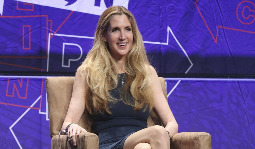 Ann Coulter participates in the 'Ask Ann Anything' panel at Politicon at the Los Angeles Convention Center in Los Angeles. (Photo by Willy Sanjuan/Invision/AP, File)