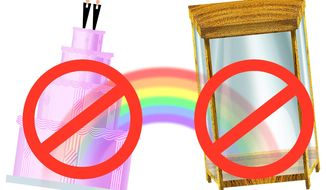 Illustration on ironies arising from gay intolerance by Alexander Hunter/The Washington Times