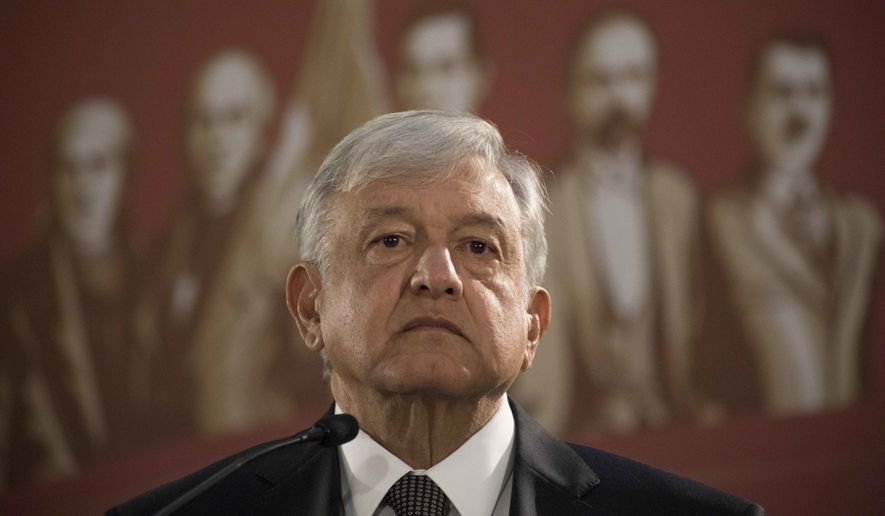 The labor strife comes on the heels of President Andres Manuel Lopez Obrador's promise to double the minimum wage in communities along the U.S. border to 176.2 pesos a day, the equivalent of $9.28 at current exchange rates. (Associated Press)