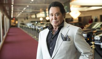 In this Sept. 8, 2015, photo, Wayne Newton poses for a photo at his home in Las Vegas. Newton will mark his 60th anniversary with a return to Caesars Palace casino-resort. His show starts Monday, Jan. 28, 2019, with dates scheduled through May. (Christopher DeVargas/Las Vegas Sun via AP, File)