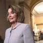 A poll from NBC News/Wall Street Journal reveals a drop in House Speaker Nancy Pelosi's favorability during the government shutdown. (Associated Press)