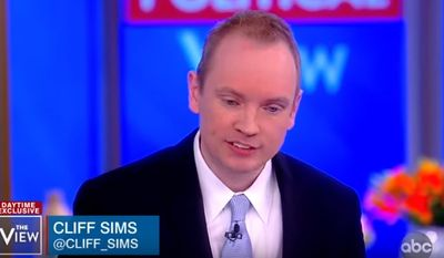 """Team of Vipers"" author Cliff Sims discusses his time working for the Trump administration with the ladies of ""The View,"" Jan. 28, 2019. (Image: YouTube, ""The View"" screenshot)"
