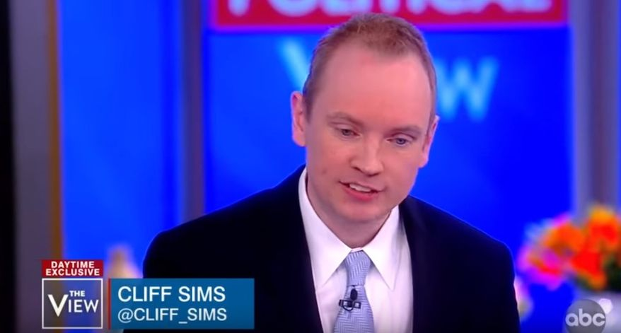 """""""Team of Vipers"""" author Cliff Sims discusses his time working for the Trump administration with the ladies of """"The View,"""" Jan. 28, 2019. (Image: YouTube, """"The View"""" screenshot)"""