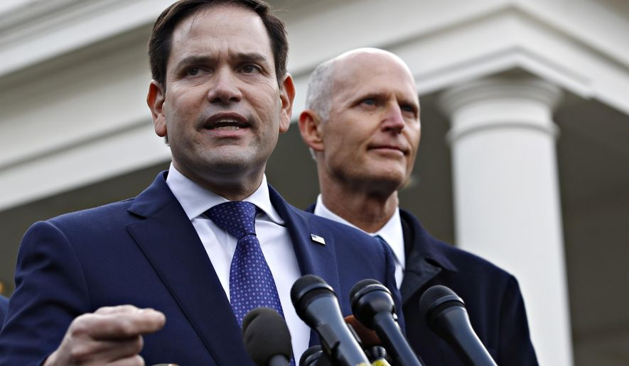 """At its core, the linchpin of it is helping Israel defend itself,"" said Sen. Marco Rubio, Florida Republican, who sponsored the legislation. (AP Photo/Jacquelyn Martin)"