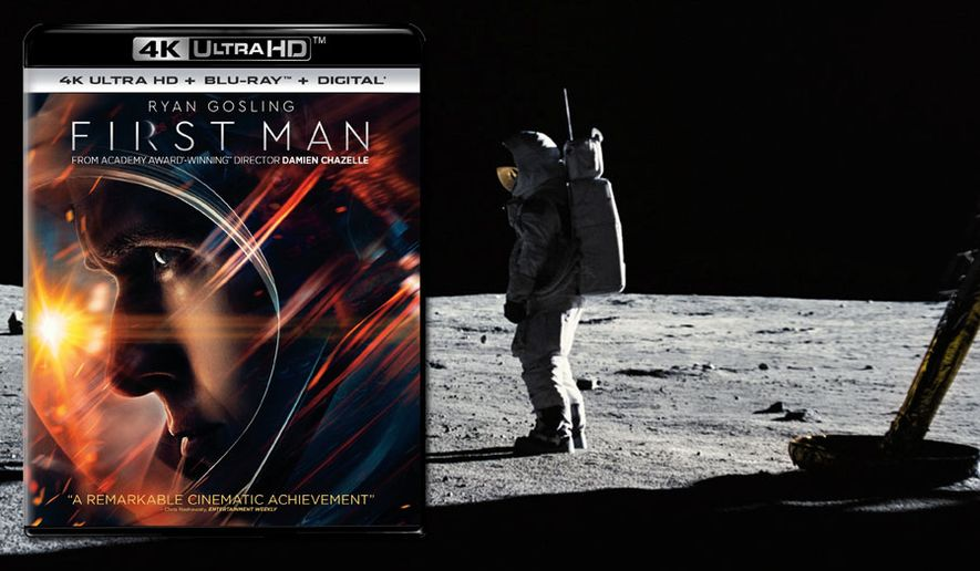 "Ryan Gosling stars as Neil Armstrong in ""First Man,"" now available on 4K Ultra HD from Universal Studios Home Entertainment."