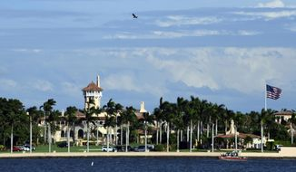 This Nov. 21, 2018, photo shows President Donald Trump's Mar-a-Lago estate in Palm Beach, Fla. (Associated Press) ** FILE **