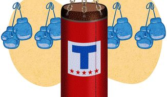 Political Punching Bag Illustration by Greg Groesch/The Washington Times