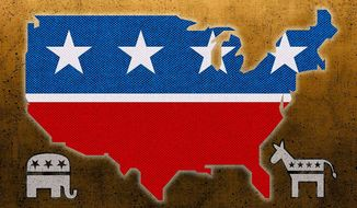 Country Before Party Illustration by Greg Groesch/The Washington Times