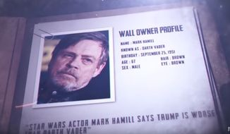 """""""Star Wars"""" actor Mark Hamill was profiled in a recent piece by The Daily Caller on anti-Trump celebrities who use various walls and security measures to protect themselves. (Image: YouTube, The Daily Caller video screenshot)"""