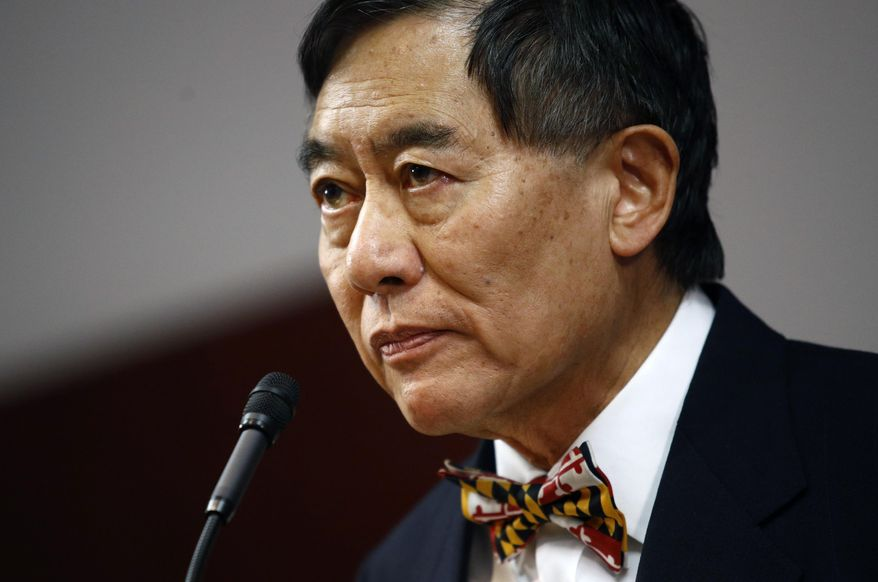 University of Maryland President Wallace Loh is shown in this Oct. 30, 2018 file photo. (AP Photo/Patrick Semansky, File) ** FILE **