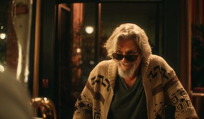 "Jeff Bridges revives his ""The Dude"" character from ""The Big Lebowski"" in an ad for Stella Artois."