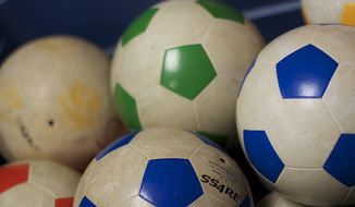 FILE: Physical education, soccer balls, gym class source: Pixabay