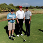 President Trump is shown here with Jack Nicklaus (left) and Tiger Woods (right). Mr. Trump played a round with the golf legends at his golf club in Jupiter, Fla., on Feb. 2, 2019. Photo via Mr. Trump's personal Twitter account, @realDonaldTrump. (Twitter) []