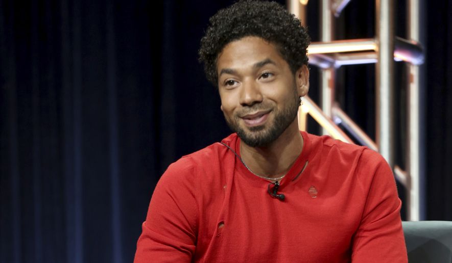 "Jussie Smollett participates in the ""Empire"" panel during the FOX Television Critics Association Summer Press Tour at the Beverly Hilton in Beverly Hills, California, Aug. 8, 2017. Smollett, an actor on the TV series ""Empire,"" is also an R&B musician who performed Saturday night, Feb. 2, 2019, at a concert in Los Angeles. Smollett, who is openly gay, says two masked men attacked him early Tuesday in Chicago in what police are investigating as a possible hate crime. (Photo by Willy Sanjuan/Invision/AP) ** FILE **"